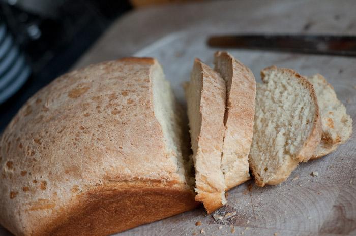 Andrew's freshly baked bread.