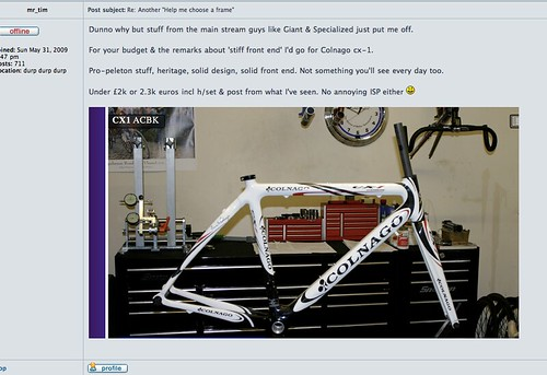 Deluded Colnago fan #1