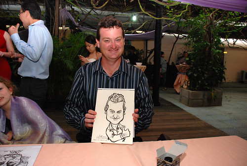 Caricature live sketching for Mark and Ivy's wedding solemization - 8