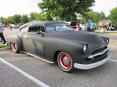 1949 (or '50?) Chevy Fleetline (splattergraphics) Tags: chevy chopped primer 1950 1949 fleetline slammed customcar cruisenight lakepipes glenburniemd lostinthe50s marleystationmall