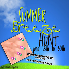Summer Breeze Hunt - Gift Preview ([VIRTUAL/INSANITY] / Loviathar Hellman) Tags: life summer watermelon nails virtual second insanity breeze hunt sculpted prim paf pasthque