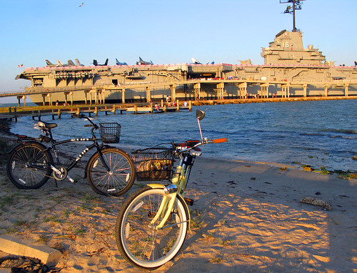 USS Lexington and Bikes by MPR Photography-PhotoMPR.com