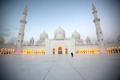 Sheikh Zayed Grand Mosque - Road to The Light    (www.thameralhassan.com Thamer Al-Hassan) Tags: door travel woman white snow art tourism monument lines architecture modern female canon religious photography gold dawn photo photographer image contemporary islam faith prayer religion great picture culture award mosque best emirates abudhabi arab dome stunning ipa arabian spiritual dom
