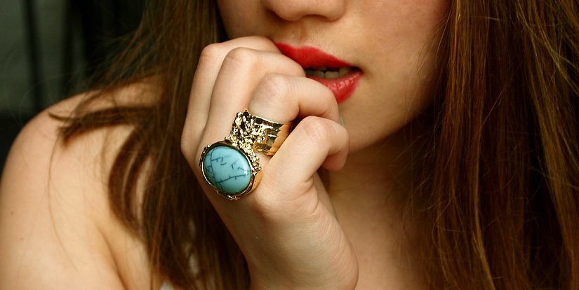 Little Fashion Bird Lauren Baluyo Modtoast YSL inspired ring