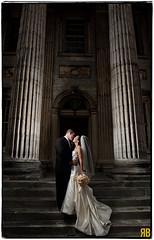 It's Always Stunning in Philadelphia (Ryan Brenizer) Tags: wedding woman man love philadelphia groom bride nikon kiss pennsylvania weddingdress d3 firstnationalbank strobist sb900 flashcomposite 24mmf14g