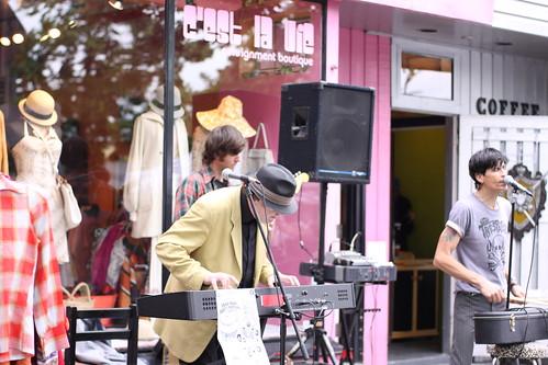 sidewalk music