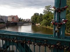 Puente con candados en Wrocław
