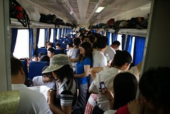 Chinese train - overcrowded