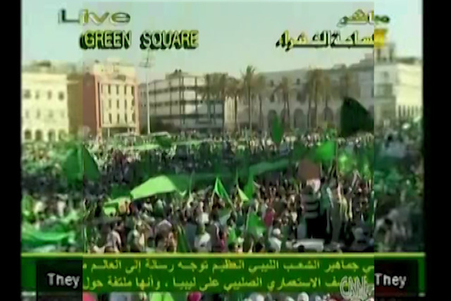 CNN_17_JUNE_2011_Tripoli_Libya_Uprising_Anger_Large_Gaddafi_Rally-MxbGEtLjYiE @ 0:27:26 over top CNN_17_JUNE_2011_Tripoli_Libya_Uprising_Anger_Large_Gaddafi_Rally-MxbGEtLjYiE @ 02:34:08