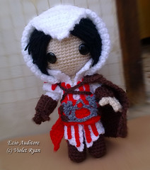 001 (violet ryan) Tags: doll crochet amigurumi creed ezio assassins auditore sackboy