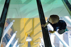 Don't look down! (johnethurgood) Tags: spinnakertower glassfloor building