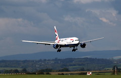 G-YMML (aitch tee) Tags: cardiffairport aircraft airliner britishairways boeing b777200 gymml bamc maintenance cwlegff maesawyrcaerdydd walesuk specialmarkings paintscheme