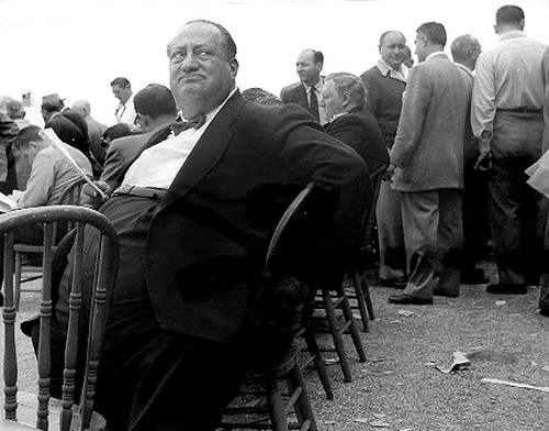 Lisette Model, Belmont Park, Race Track, Fat Man, 1956