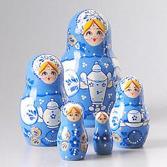 Tea Party Blue Nesting Doll (The Russian Store) Tags: trs matrioshka matryoshka nestingdolls russiannestingdolls  stackingdoll  russianstore  russiangifts  russiancollectibledolls shoprussian