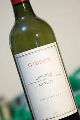 Gibson 2005 Reserve Merlot