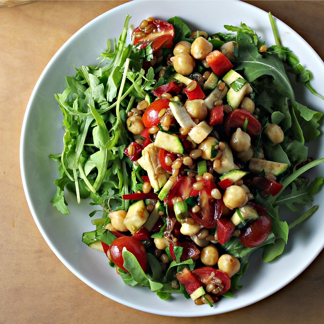 Back on Track Wheat Berries and Chickpea Salad...Eat.Live.Be. for a ...