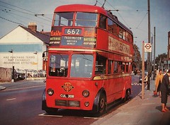 London transport C2 type trolleybus 308 on route 662. (Ledlon89) Tags: bus london transport lt trolleybus londonbus electrictransport aec vintagebuses brcw