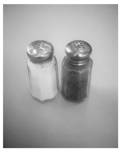 salt pepper black white