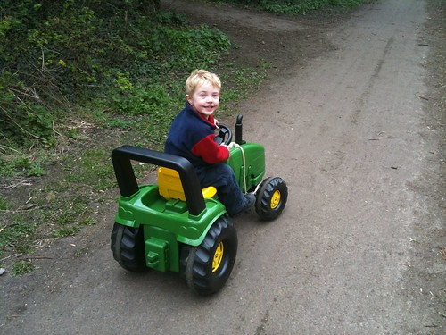 On my tractor John Deere