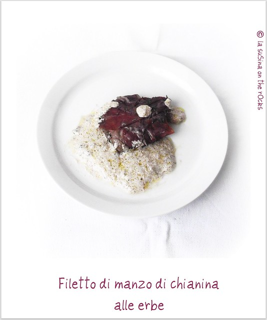 filetto di manzo di chianina alle erbe