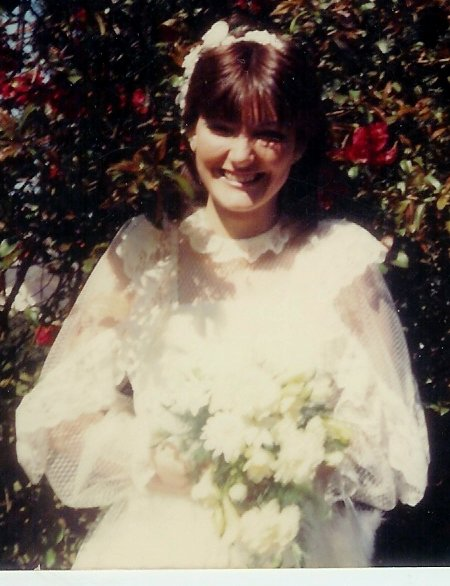 My Mam on her Wedding Day in 1985