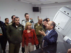 Israeli Officers Visit East Jerusalem Hospitals (Israel Defense Forces) Tags: hospital medical militarypolice idf crossings palestinian eastjerusalem borderpolice augustavictoria civiladministration cogat daliabassa