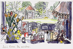 Joan's Window, Sussex (larosecarmine) Tags: home sketch artist drawing room documentary elderly care residence reportage residents