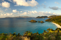 Trunk Bay - St. John, US Virgin Islands USVI (Carl's Photography) Tags: blue green horizontal clouds landscape nikon outdoor iso400 horizon stjohn processing tropical caribbean gps f80 tropics scenics virginislands lightroom usvi tranquilscene trunkbay virginislandsnationalpark stjohnusvirginislands beautyinnature 18200mmf3556gvr adobelightroom 1100sec d7000 1100secatf80 nikond7000 gettyartistpicks adobephotoshopcs5 trunkbayusvirginislands