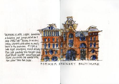 110407 Thursday architectural sketch