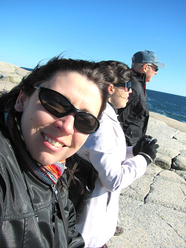 Me, Jamie & Reg at Peggy's Cove, Nova Scotia
