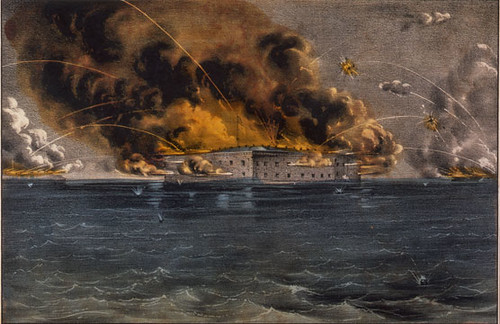 Fort-Sumter-Currier-and-Ives-Lithograph
