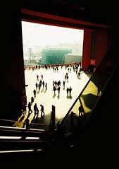 The PRC Frame (Lane #51) Tags: world china city shadow people urban film xpro shanghai expo escalator frame elitechrome eb uws 2010 eb3