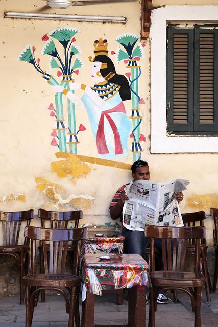 エジプト、アスワンのカフェ