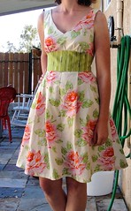 Easter dress (katedeerie) Tags: heather bailey nicey jane easter dress new look pattern sew sundress spring summer roses 2011summerdresschallenge