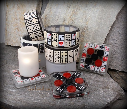 Game Night Chip Bowls and Candle Trivets