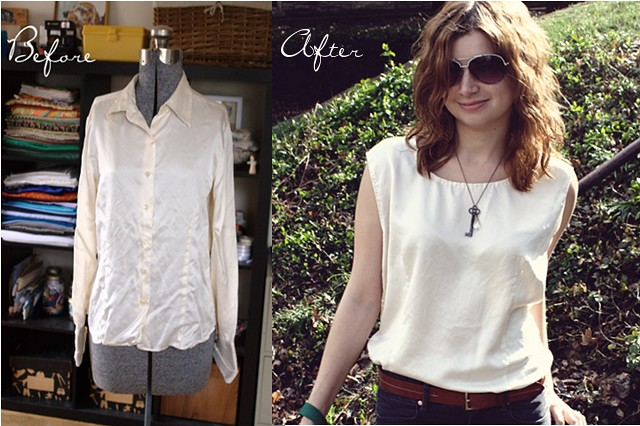 silk shirt restyle