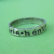 Hand Stamped Ring