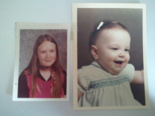 Me as a baby, mom as a teen