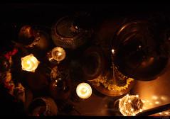 Vishu Kani (top) (Sudhamshu) Tags: light india yellow fire festivals mirrors sparkle lamps jewels chennai vishu jackfruit 50mmf14 diya tulu vishukani