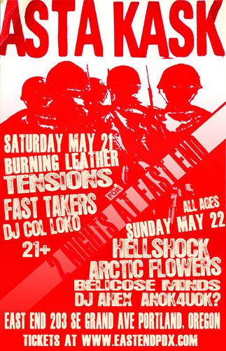 5/21+22 AstaKask/BurningLeather/Tensions/FastTakers/Hellshock/ArcticFlowers/BellicoseMinds