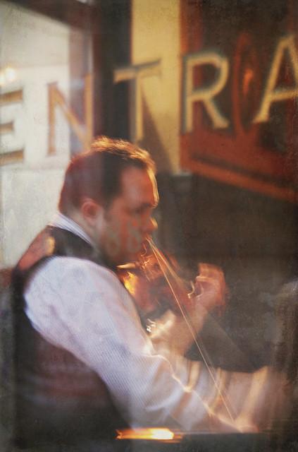 Violinist in Cafe Central