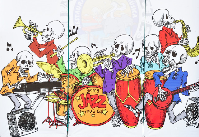 Skeleton band in Mexico