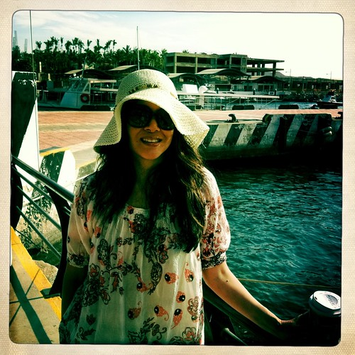 on the pier at Cabo