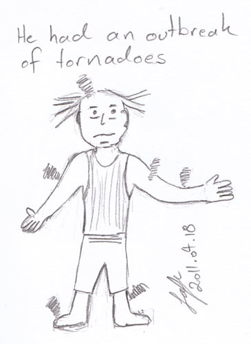 An outbreak of tornadoes