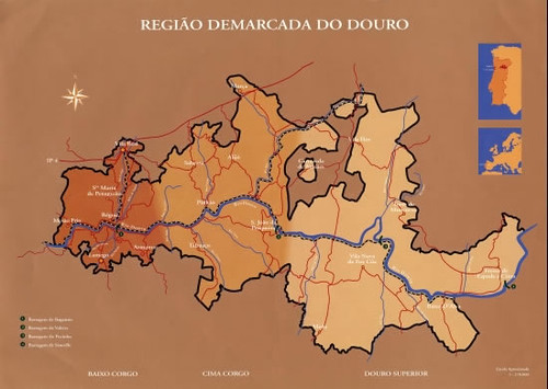 Map of the Douro Demarcated Region