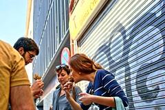 am! (Javier Medina M.) Tags: madrid people eating gimp personas eat tapas comer hdr a330 aperitivo sonyalpha luminancehdr