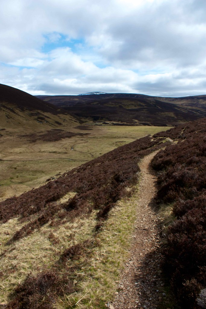 The track above the Allt an t-Seilich