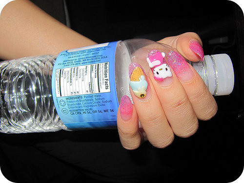 hello kitty nails. hello kitty nails 2