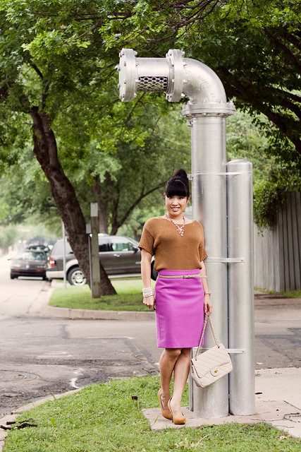 amrita singh shelter island necklace hm cable knit j. crew double serge pencil skirt bright dahlia yesstyle beige quilted purse michael kors rose gold watch mk5430 pearl bracelet ann taylor suede skinny belt mustard pumps