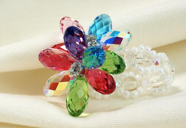 施華洛世奇-花朵水晶